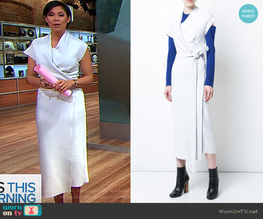 Knit Belted Wrap Dress by Proenza Schouler worn by Alex Wagner on CBS This Morning