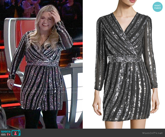 Parker Black Kelsey Dress worn by Kelly Clarkson  on The Voice