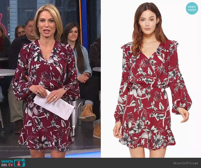 'Brita' Dress by Parker worn by Amy Robach on Good Morning America
