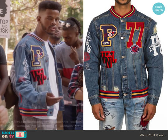 PCU Jean Jacket by Play Cloths worn by Aaron Jackson (Trevor Jackson) on Grown-ish