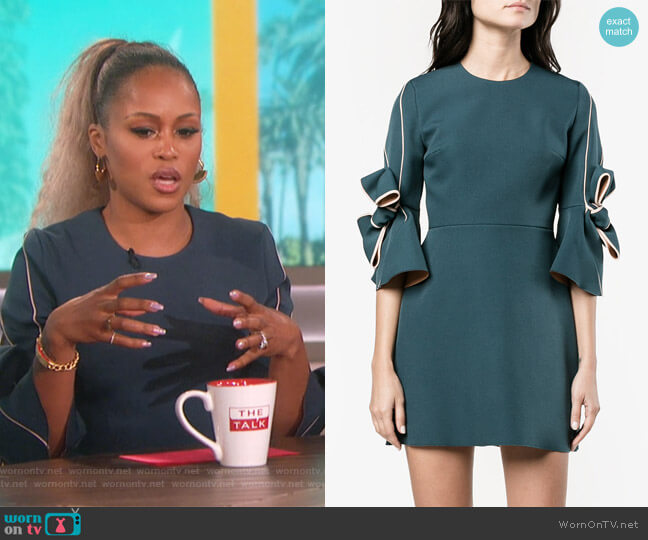 Harlin Bow Embellished Dress by Roksanda worn by Eve on The Talk