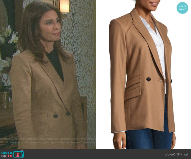 'Duke' Double-Breasted Blazer by Rag & Bone worn by Kristian Alfonso on Days of our Lives