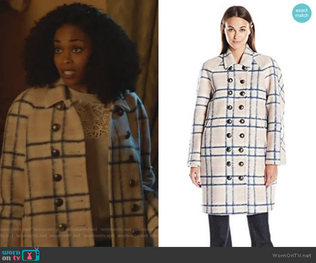 Santo Coat by Rebecca Minkoff worn by Nafessa Williams on Black Lightning