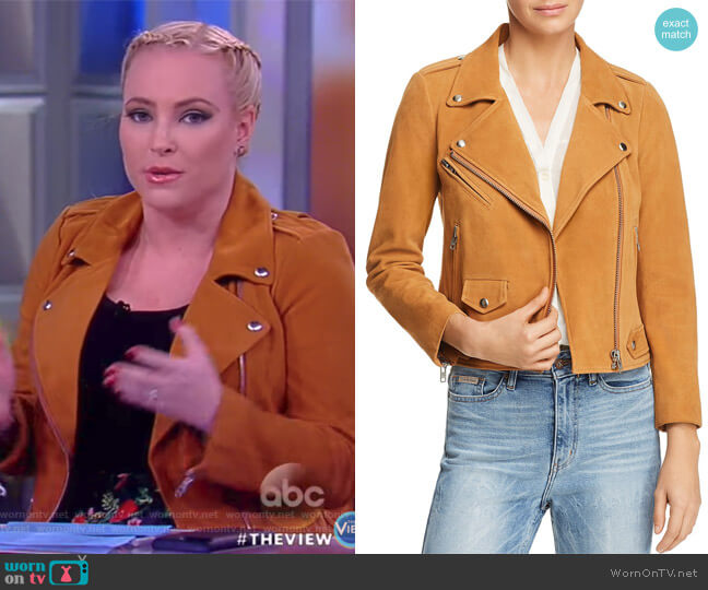 Wes Suede Moto Jacket by Rebecca Minkoff worn by Meghan McCain  on The View