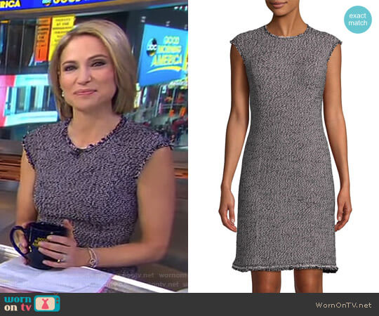 Confetti Tweed Dress by Rebecca Taylor worn by Amy Robach on Good Morning America