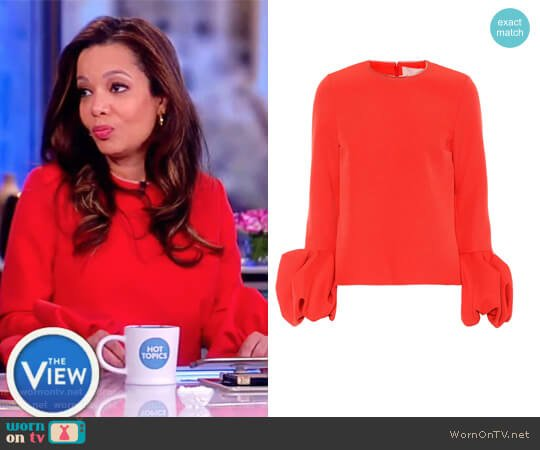 Arlo crepe top by Roksanda worn by Sunny Hostin on The View