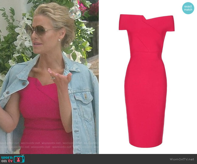 Belvedere Off-the-Shoulder Dress by Roland Mouret worn by Dorit Kemsley  on The Real Housewives of Beverly Hills