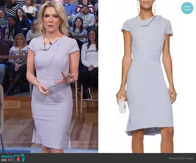 Pleated wool-crepe dress by Roland Mouret worn by Megyn Kelly on Today