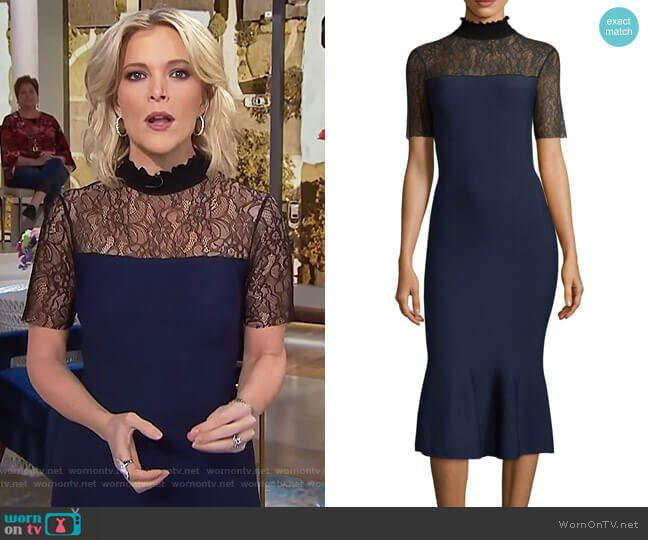 Deena Lace Mermaid Midi Dress by Sachin & Babi worn by Megyn Kelly  on Today