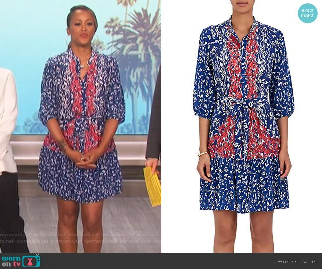 Tyra Leopard-Print Silk Dress by Saloni worn by Eve (Eve) on The Talk