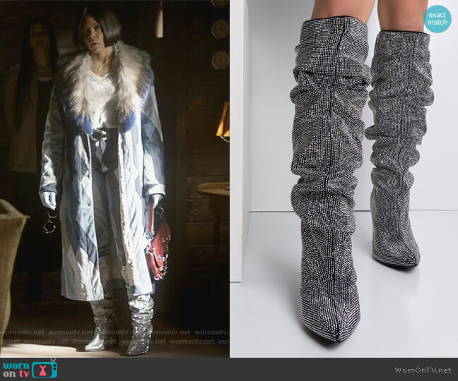 Eye Candy Glitter Slouchy Boots Shop Akira worn by Taraji P. Henson on Empire