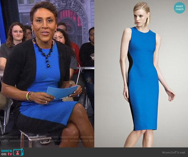 Colorblocked Sheath Dress by Stella McCartney worn by Robin Roberts on Good Morning America
