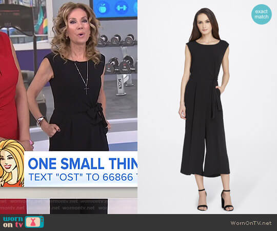 Pebble Crepe Jumpsuit by Tahari ASL worn by Kathie Lee Gifford on Today