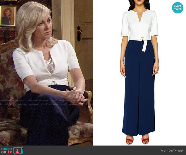 Ted Baker Aleeix Jumpsuit worn by Eileen Davidson on The Young & the Restless