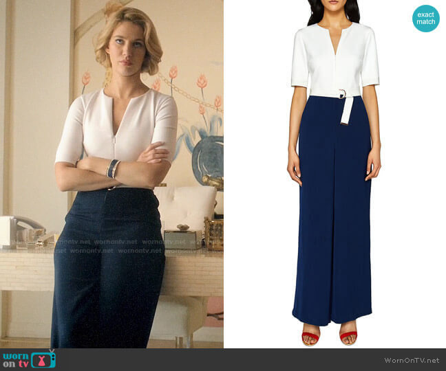 Ted Baker Aleeix Jumpsuit worn by Petra Solano (Yael Grobglas) on Jane the Virgin