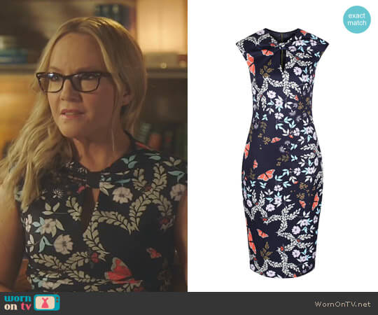 'Kairra' Kyoto Gardens Dress by Ted Baker worn by Linda Martin (Rachael Harris) on Lucifer