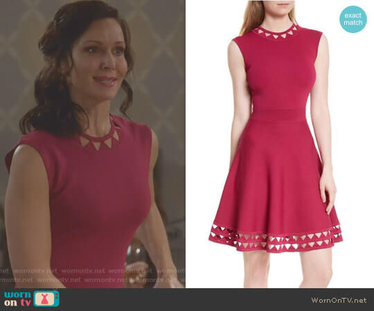 'Kathryn' Dress by Ted Baker worn by Florencia Lozano on Kevin Can Wait