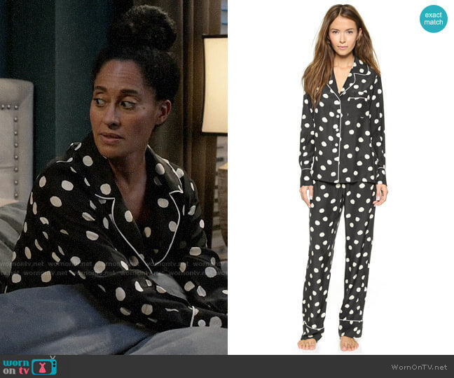 Three J NYC Coco PJ Set worn by Tracee Ellis Ross on Black-ish