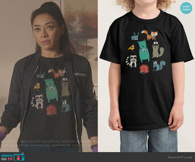 Wildlife Observation Tee by Tiffany Pankratz worn by Ella Lopez (Aimee Garcia) on Lucifer