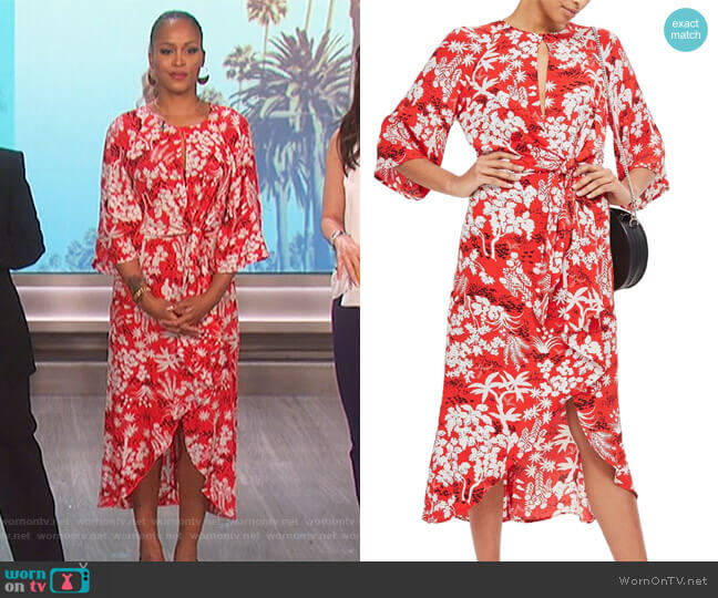 Knotted Midi Dress by Topshop worn by Eve on The Talk