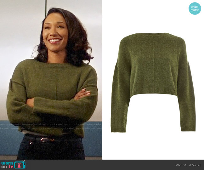 Topshop Ribbed Cropped Jumper worn by Candice Patton on The Flash