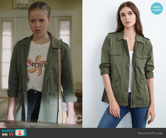 Ruby Army Jacket by Velvet by Graham & Spencer worn by Samantha Hughes (Holly Barrett) on Life in Pieces