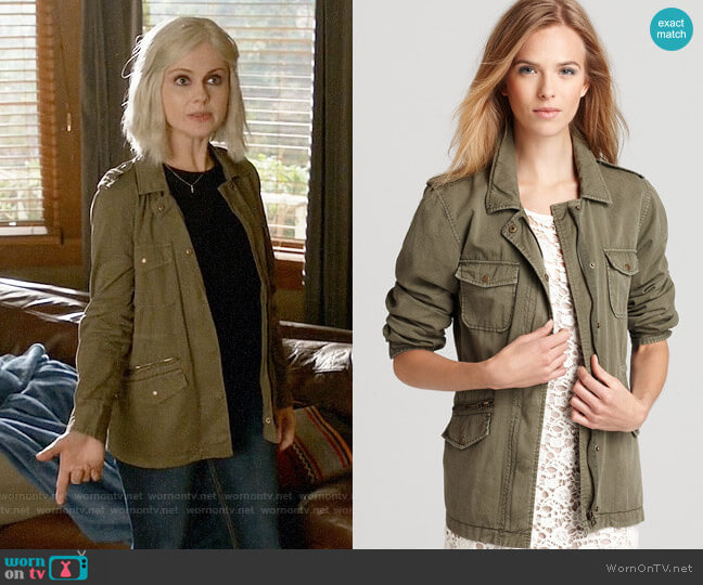 Velvet by Graham & Spencer Army Jacket worn by Rose McIver on iZombie