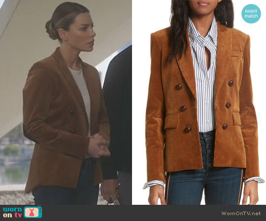 Cliff Corduroy Cutaway Jacket by Veronica Beard  worn by Lauren German on Lucifer