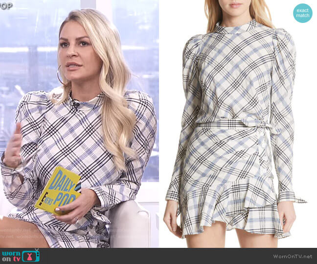Isabel Top and Kaia Skirt by Veronica Beard worn by Morgan Stewart  on E! News