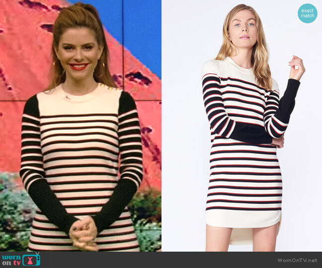 'Trey' Sweater Dress by Veronica Beard worn by Maria Menounos on Live with Kelly & Ryan