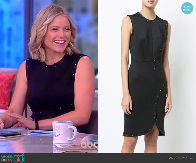 Studded Fitted Dress by Yigal Azrouel worn by Sara Haines on The View