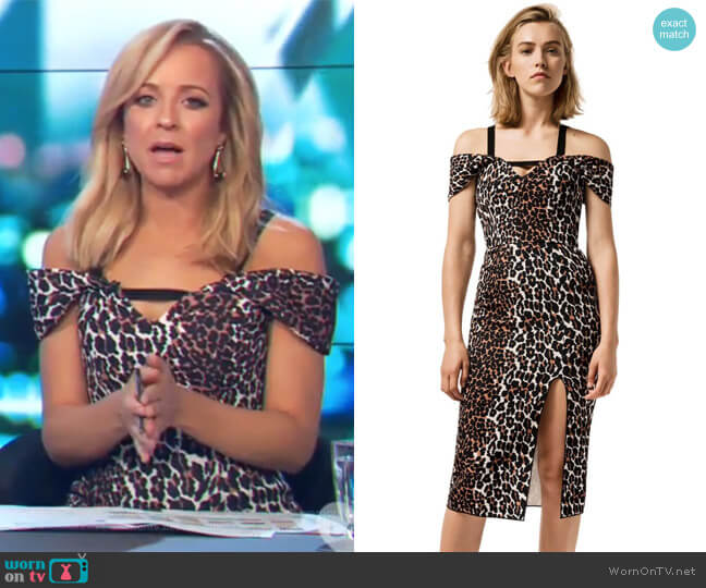 Double Crepe Leopard Minka Dress by Yeojin Bae worn by Carrie Bickmore  on The Project