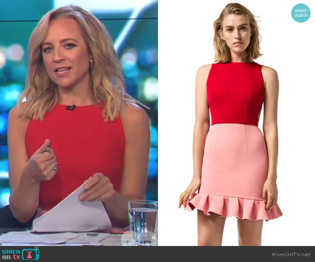 Double Crepe Tilly Dress by Yeojin Bae worn by Carrie Bickmore on The Project