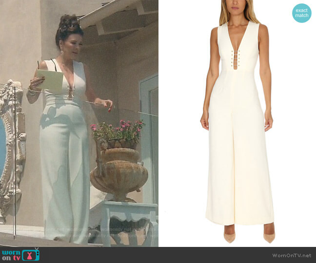 'Baton' Jumpsuit by Zimmermann worn by Lisa Vanderpump  on The Real Housewives of Beverly Hills