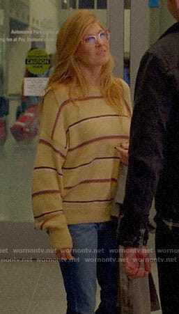 Abby's striped sweater on 9-1-1