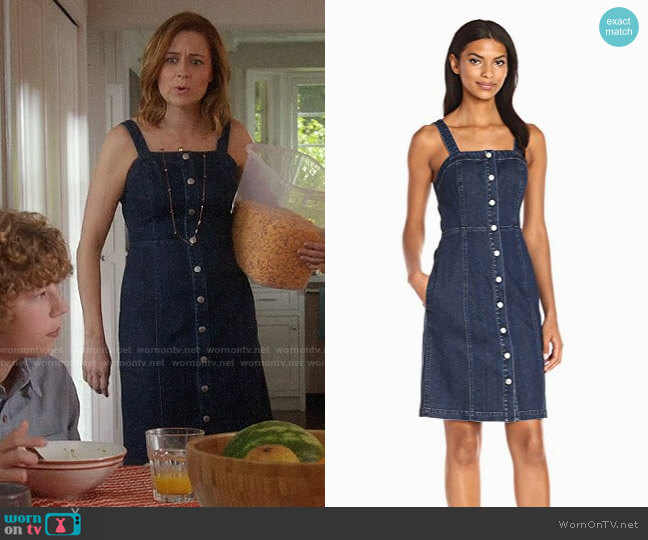AG Adriano Goldschmied Sydney Denim Dress worn by Jenna Fischer on Splitting Up Together