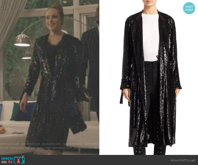 'Holloway' Sequin Jacket by ALC worn by Fallon Carrington (Elizabeth Gillies) on Dynasty