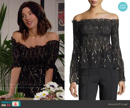 ALC Agra Top worn by Steffy Forrester (Jacqueline MacInnes Wood) on The Bold & the Beautiful