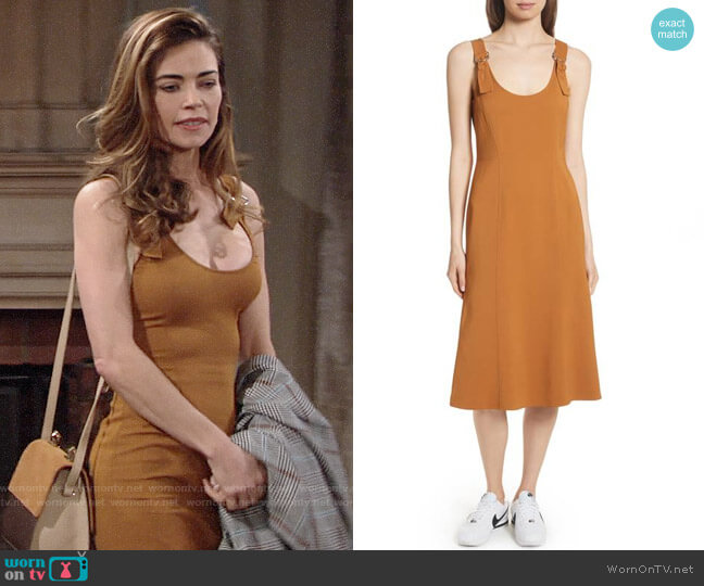 ALC Sander Dress worn by Victoria Newman (Amelia Heinle) on The Young & the Restless