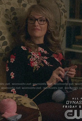 Alice's floral and bird embroidered sweater on Riverdale