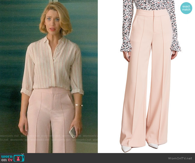 Alice + Olivia Dylan Blush Pants worn by Yael Grobglas on Jane the Virgin