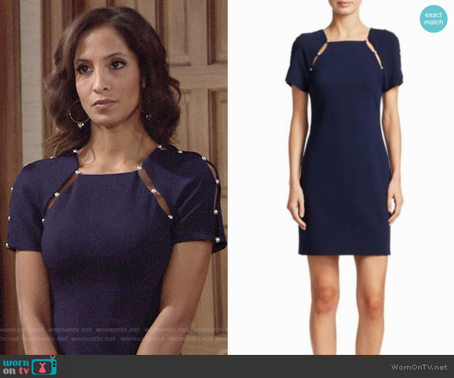 Alice + Olivia Kristiana Dress worn by Christel Khalil on The Young & the Restless