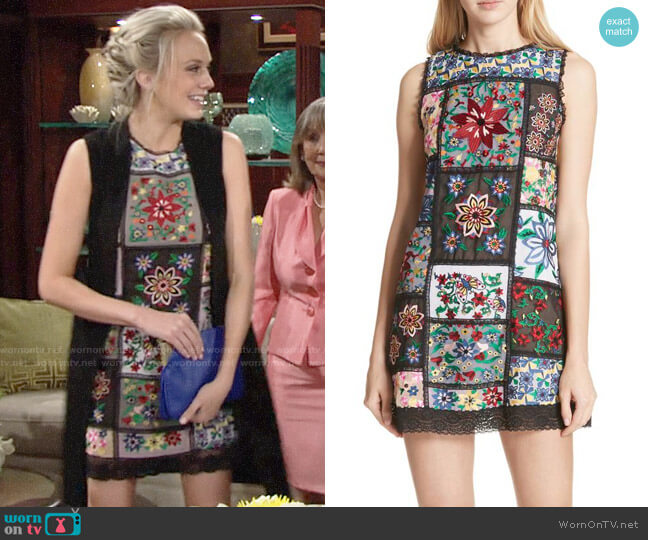Alice + Olivia Marcelina Dress worn by Melissa Ordway on The Young & the Restless