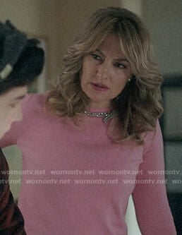 Alice's pink bow embellished sweater on Riverdale
