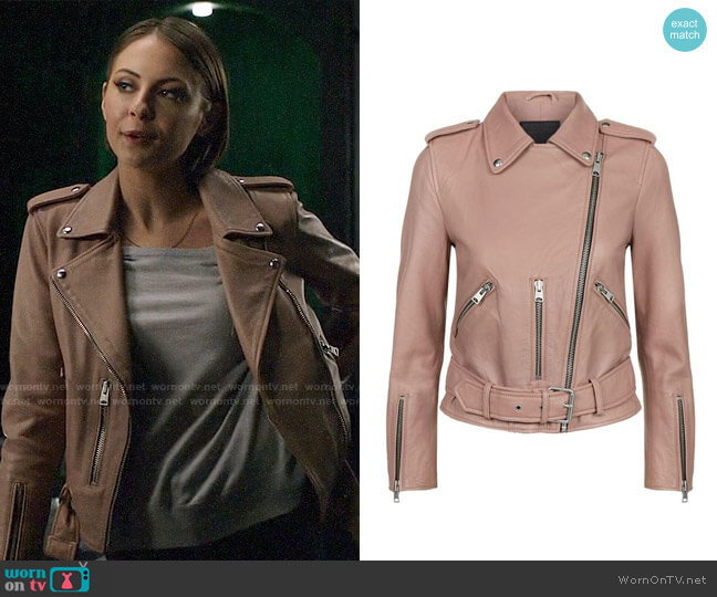 All Saints Balfern Jacket worn by Willa Holland on Arrow