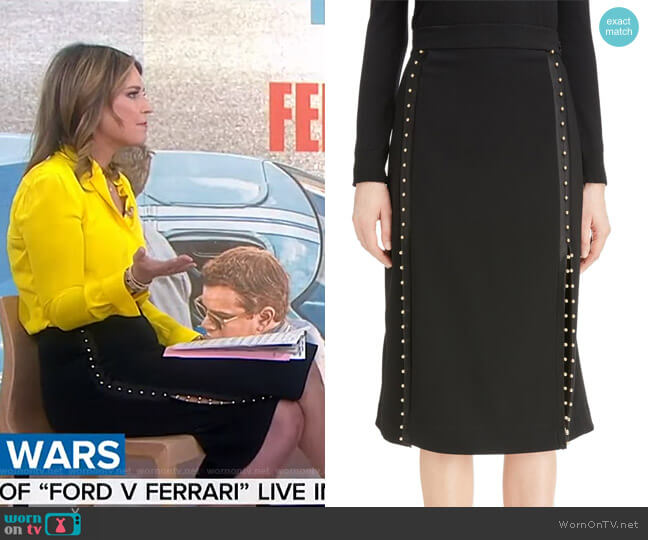 'Welkes' Grommet Detail Skirt by Altuzarra worn by Savannah Guthrie  on Today