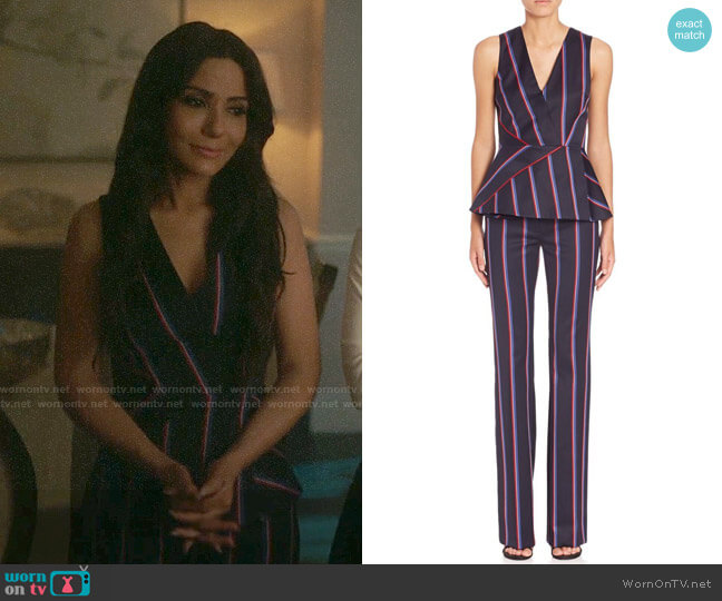 Altuzarra Miles Striped Pants and Serge Pants worn by Hermione Lodge (Marisol Nichols) on Riverdale