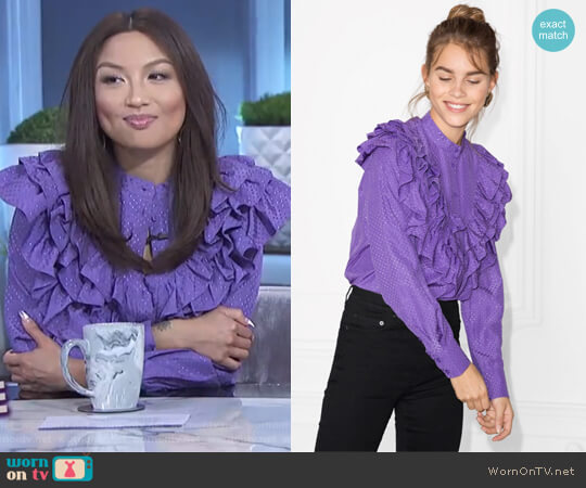 Ruffle Blouse by & Other Stories worn by Jeannie Mai on The Real