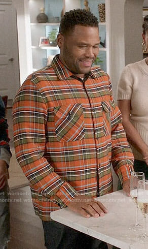 Andre's orange plaid shirt on Black-ish