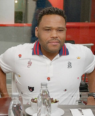 Andre's embroidered polo shirt on Black-ish